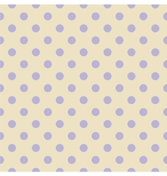 Tile violet polka dots on beige background vector image