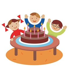 Birthday children party vector