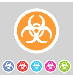 Biohazard flat icon badge vector image