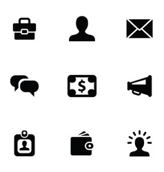 Business 9 icons set vector