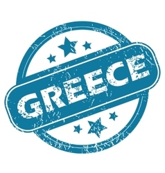 Greece round stamp vector