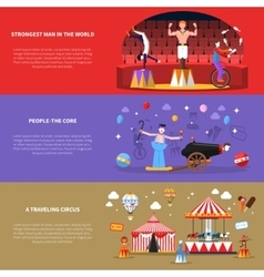 Circus banners set vector