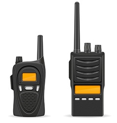 Walkie talkie 05 vector