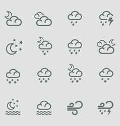 weather forecast pictograms - night vector image