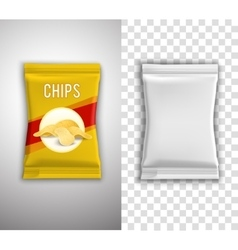 Chips packaging design vector