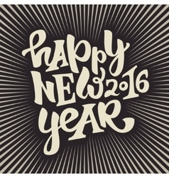 Happy new 2016 year lettering vector
