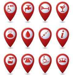 Set of 12 services and entertainment redpointer vector