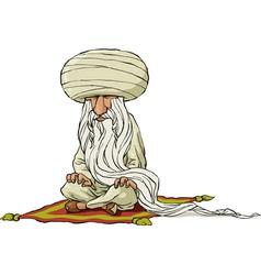 Oriental sage vector