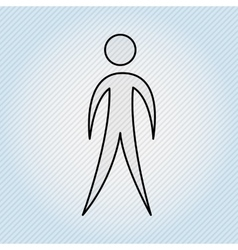 Human figure design vector
