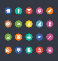Glyphs colored icons 23 vector