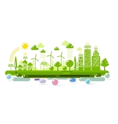 Green eco city vector