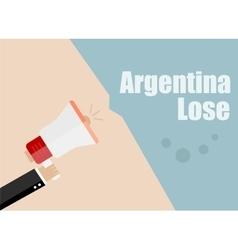 Argentina lose Flat design business vector image