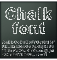 Abstract chalk font vector image vector image