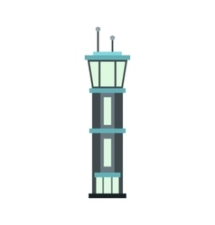 Airport tower icon flat style vector image