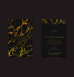 Black gold luxury invitation for vip event vector