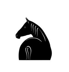 Black horse silhouette vector