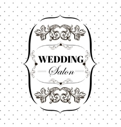 Bridal salon signboard with ornamental elements on vector