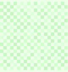 Checkerboard pattern green seamless background vector