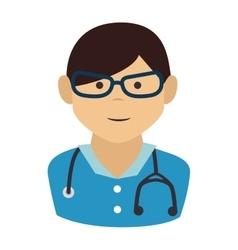 doctor man cartoon design vector image