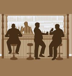 fat men bar vector image