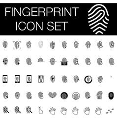 Fingerprint icon set vector image