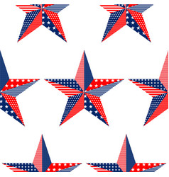 five-pointed stars pattern on white background vector image