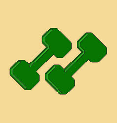 Flat icon on stylish background dumbbells vector