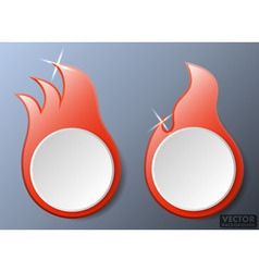 Hot Fire Flames Banners Set vector image vector image