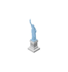Isolated statue of liberty isometric new york vector