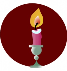 Lit candle vector