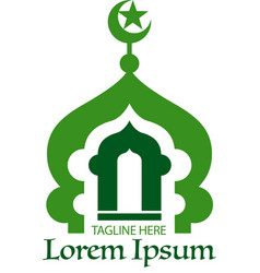 Mosque icon or symbol vector