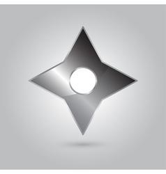ninja stars ninja and weapon cartoon vector image
