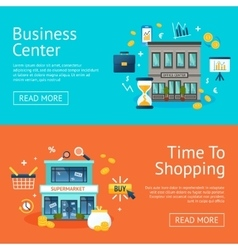 Office And Shops Banners Set vector image