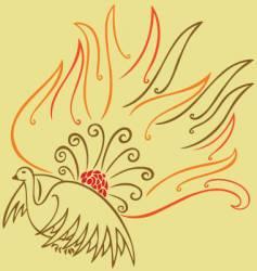 oriental phoenix vector image vector image
