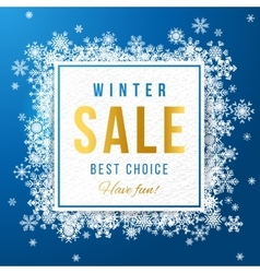 Sale banner with snowflakes vector