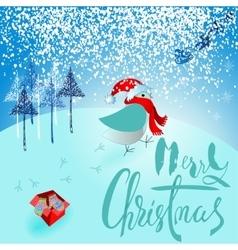 Santa claus brought a bad gift angry bird vector