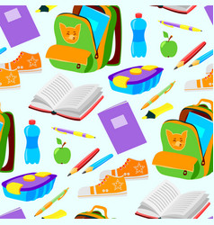 School or office supplies educational accessories vector