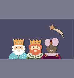 Three kings and star vector
