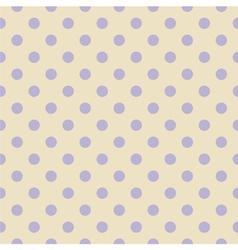 Tile violet polka dots on beige background vector