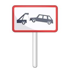 Tow away no parking sign icon cartoon style vector
