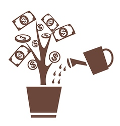 tree money invest symbol vector image vector image