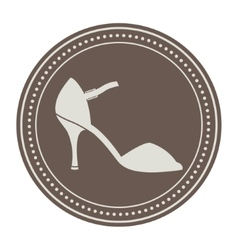 Vintage shoe label vector image vector image