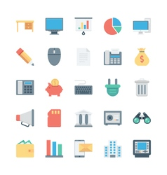 Business and office colored icons 2 vector