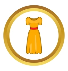 Womens fancy dress icon vector