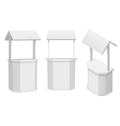Market stand or retail counter for your vector