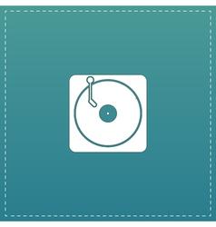 Turntable dj icon vector