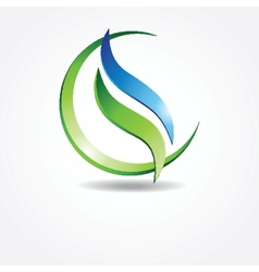 Green ecological banner vector
