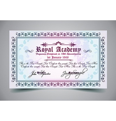 Certificate for differrent with a lot of details vector image