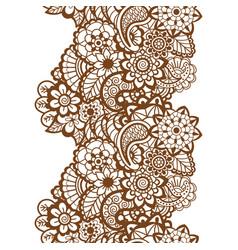 Mehndi ribbon paisley design vector