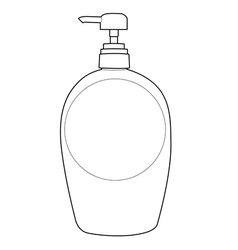 Lotion bottle outline vector
